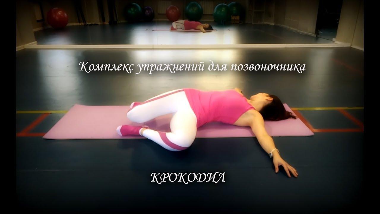 Крокодил - упражнения для позвоночника и укрепления спины, комплекс упражнений для спины Крокодил с видео